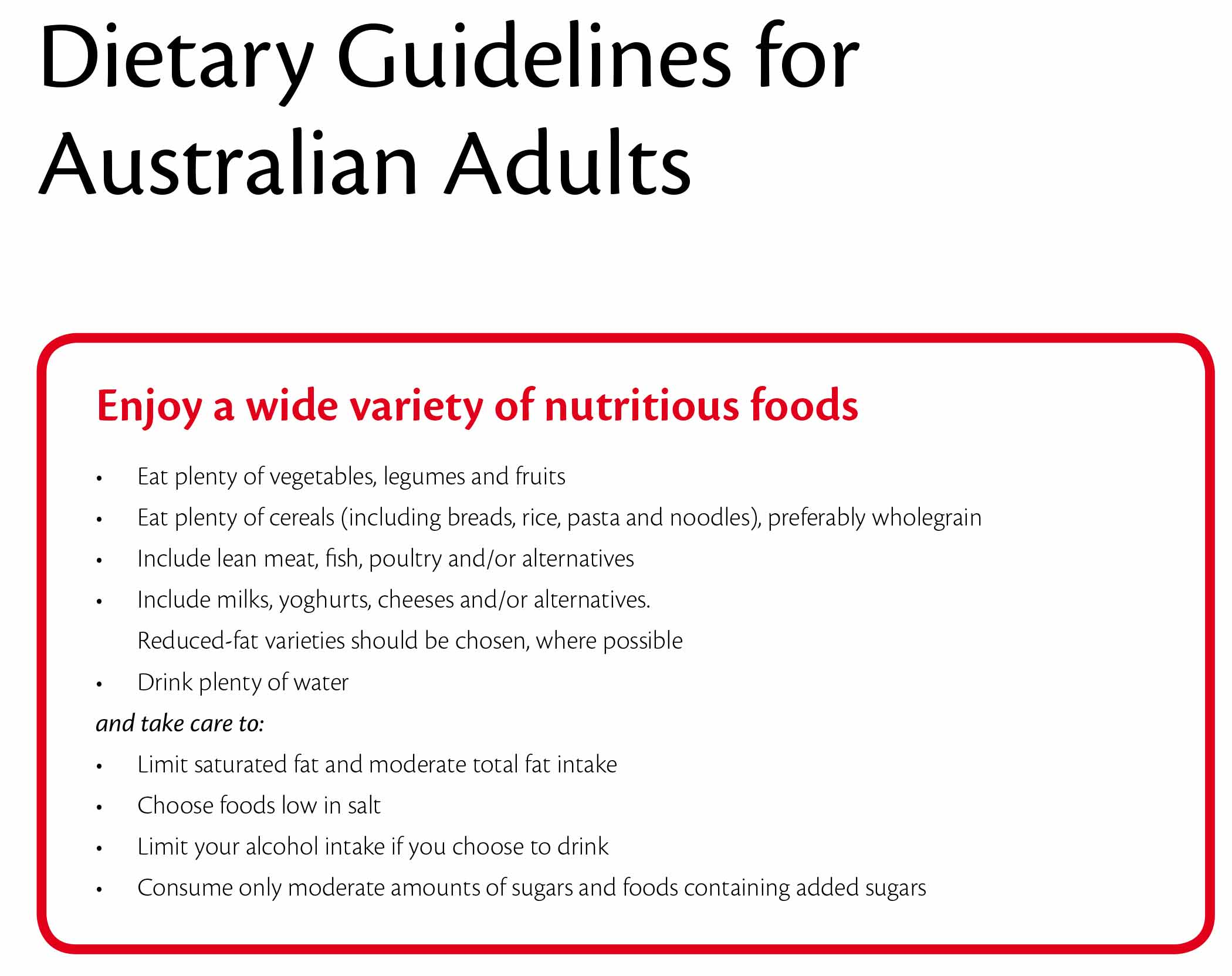 Dietary Guidelines Fat Intake