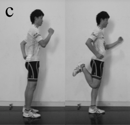 leg extensors dynamic stretch