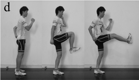Leg flexor dynamic stretch
