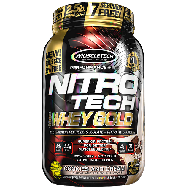 Nitrotech 100% Whey Gold - MrSupplement