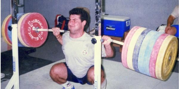 heavy back squat 1RM attempt