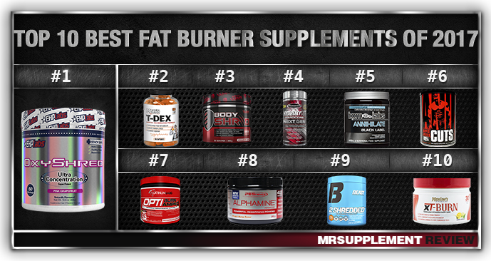 Top 10 Fat Burner Supplements 2017