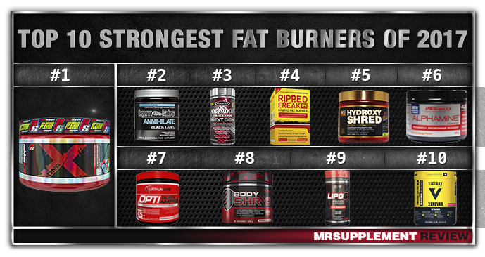 Top 10 Strongest Fat Burners 2017
