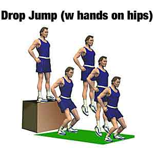 drop jump w hands on hips