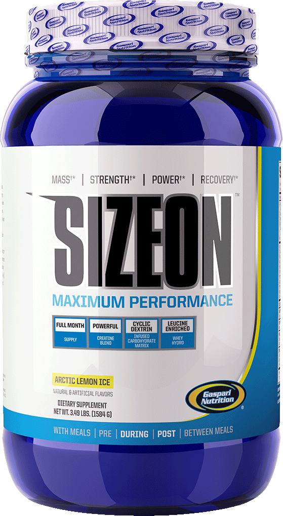 gaspari nutrition size on