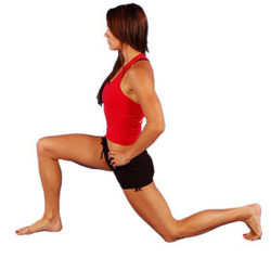 dynamic stretch lunge