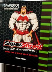 Max's Super Shred Low Carb Bar