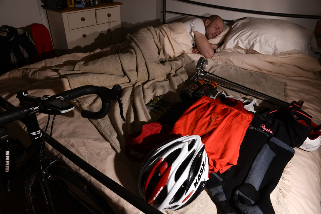 sleeping triathlete