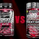 Muscletech Hydroxycut Hardcore Elite vs Next Gen