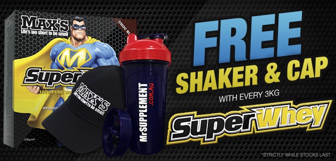 FREE Shaker & Cap With Max's Superwhey