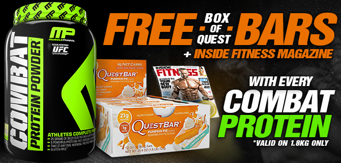 Combat Protein 1.8kg - Free Pumpkin Pie Quest bars