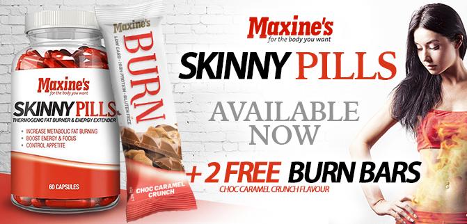 2 Free Burn Bars With Maxine's Skinny Pills