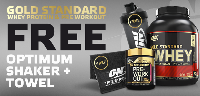 Optimum Gold Standard Whey & Pre Stack + Loads of freebies