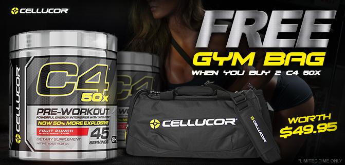 Cellucor C4 50x - Buy 2 & GET A FREE GYM BAG