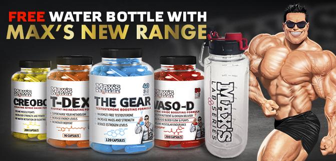 Max's New Range + FREE Bottle
