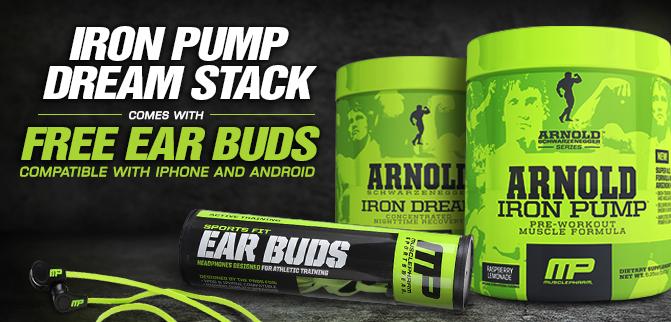 Iron Pump Dream Stack - FREE Muscle Pharm HEADPHONES