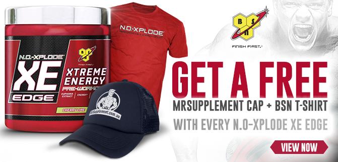 BSN NO-Xplode XE Edge - FREE Shirt + Cap