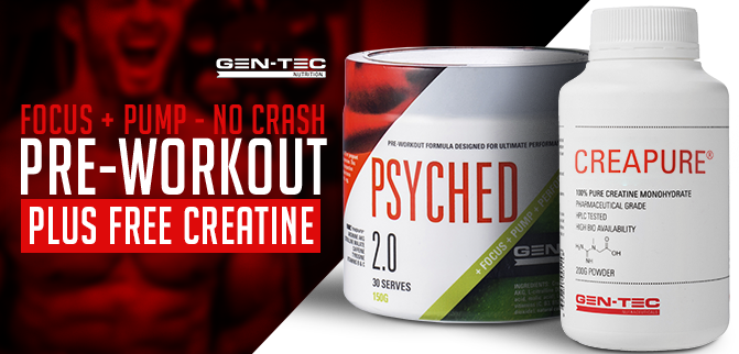 Gen-Tec Psyched - Free Creatine!