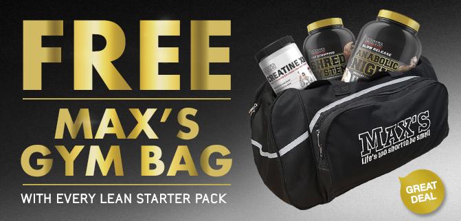 FREE MAX'S Gym Bag!