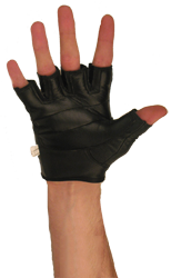 Bronx Black Leather Glove