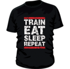 Mr Supplement Train Eat Sleep Repeat Workout Shirt