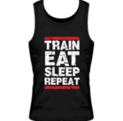 Mr Supplement Train Eat Sleep Repeat Workout Singlet