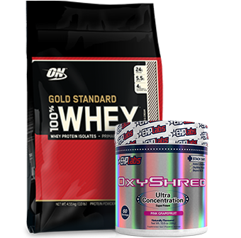 Optimum Gold Standard Whey OxyShred Stack