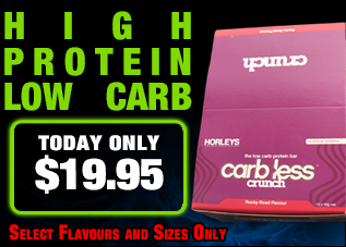 Horleys Carb Less Crunch Bar