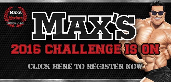 Max's 2016 Challenge Is On