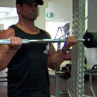 Wide Grip Barbell Bicep Curl