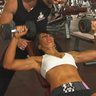 Ladies Incline Dumbbell Press