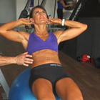 Ladies Exercise Ball Crunch