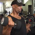 Kneeling Double Arm Bicep Curl